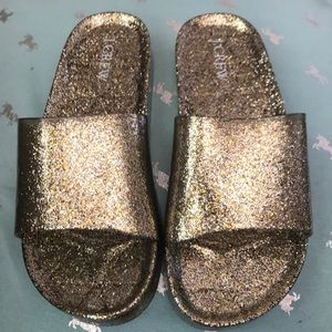 J Crew Brand New Magical Glitter Slides 7-8